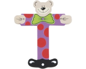 Playshoes letter T bear wood 10 cm