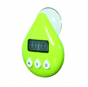 PowerPlus EcoSavers shower alarm clock 9 x 6.2 x 2.4 cm green
