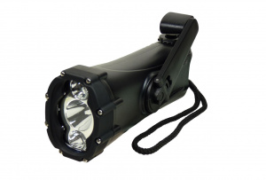 PowerPlus zaklamp led Shark 17 x 7 x 5,5 cm zwart