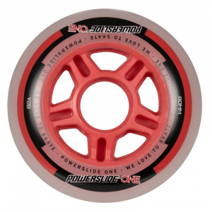 Powerslide skate wheels One 80 mm polyurethane red 4 pieces
