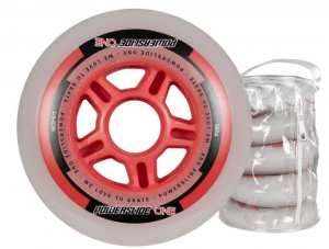 Powerslide skate wheels One 90 mm polyurethane red 4 pieces