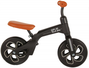 QPlay loopfiets Tech 10 Inch Junior Bruin/Zwart
