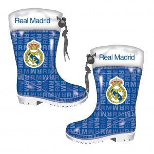 Real Madrid regenstiefel Junior EVA/Gummi blau/weiß