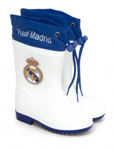 Real Madrid regenstiefel Junior weiß/blau
