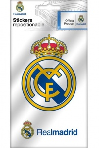 Real Madrid logo stickers 2 pieces
