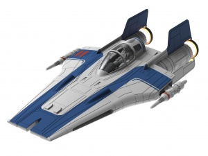 Revell Build & Play Res A-wing Fighter 1:44 blauw 25-delig
