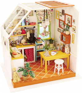 Robotime dIY kitchen doll's house construction kit 18.9 cm wood 3-piece