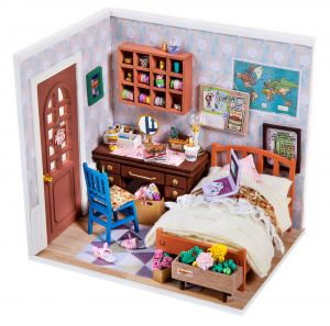 Robotime dIY Anne doll's house construction kit 23 cm wood/textile 3-piece
