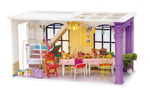 Robotime dIY Party doll's house construction kit 23 cm wood/textile 3-piece