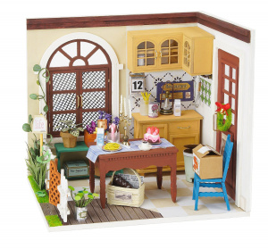 Robotime doll's house DIY dinner set 23 cm wood/textile 3-piece