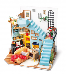 Robotime dIY led doll's house construction kit 23 cm wood/textile 3-piece