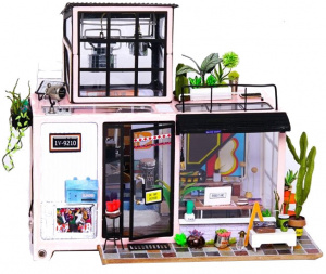 Robotime dollhouse Kevins Studio junior wood 25 cm (DG13)
