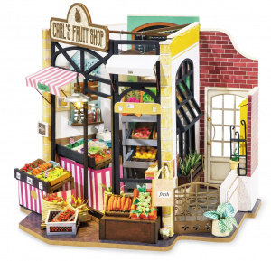 Robotime dollhouse with led DIY Carl's Fruit Shop (DG142)