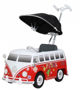 Rollplay duwauto Volkswagen bus T2awning junior red/white