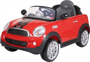 Rollplay Mini Cooper S Coupe accuvoertuig 6 Volt rood