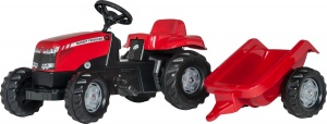 Rolly Toys tracteur escaliers RollyKid Massey Ferguson rouge junior