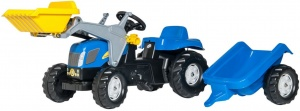 Rolly Toys tracteur escaliers RollyKid NH T7040 bleu junior