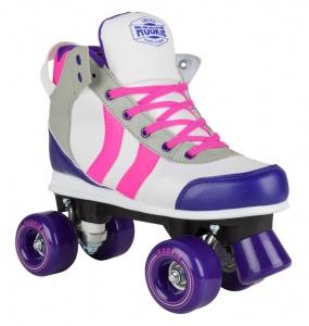 1292a9b7a32 Rookie rolschaatsen Deluxe dames wit/paars/roze