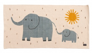 Roommate geweven vloerkleed Elephants junior 70 x 140 cm