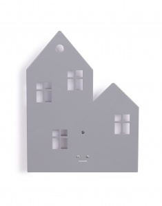 Roommate wandleuchte Town House grau junior 23,5 x 30 cm
