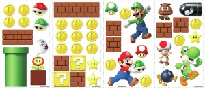 RoomMates muurstickers super mario bros junior vinyl 45 stuks
