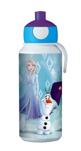 Rosti Mepal pop-up beker Disney Frozen II 400 ml blauw/wit