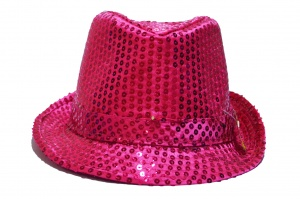 Rubie's glitterhoed led unisex roze one size