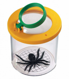 Safari insectenpot junior 6,5 cm geel/transparant 2-delig