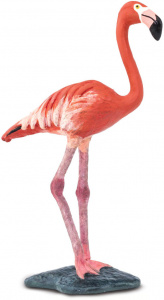 Safari speeldier flamingo junior 8,3 cm roze