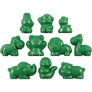 Sandy Clay sand moulds 10 pieces of animals