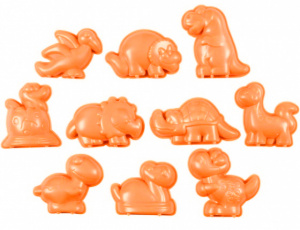Sandy Clay sand moulds Dino's orange 10 pieces