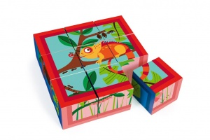 Scratch blokkenpuzzel jungle karton 9 blokken