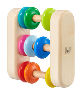 Selecta Spielzeug telraam junior Abacus 8 cm naturel