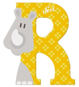 Sevi animal letter R 8 cm yellow