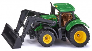 Siku John Deere 6215R tractor with front loader 9.3 cm green (1395)