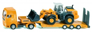 Siku Man low loader with Liebherr 580 wheel loader yellow (1839)