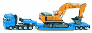 Siku Man low loader with Liebherr 974 excavator yellow (1847)