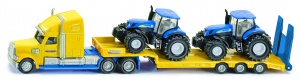 Siku Low loader with New Holland tractors yellow / blue (1805)