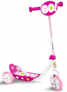 Skids Control kinderstep Love Girls Pink/White