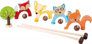 Small Foot Croquet set animal 8-delig 44 x 19 x 5 cm
