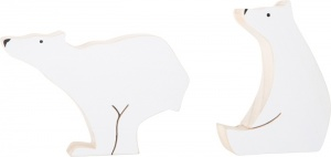 Small Foot Decor-wood set of two polar bears