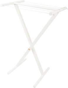 Small Foot drying rack Landhuisgirls wood 64 cm white