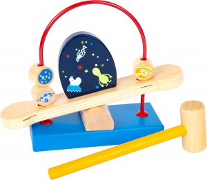 Small Foot hamerbank Space hout junior 20 cm 2-delig