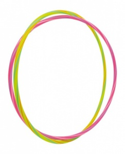 Small Foot Hula Hoop Neon Yellow (71cm) And Pink (66cm)