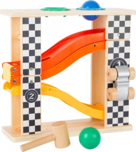 Small Foot wooden hammer bench with race track
