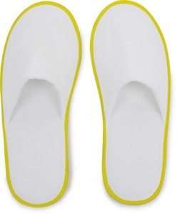 Small Foot Interne OU Hôtel Slippers blanc / jaune One Size