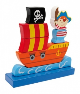 Small Foot Insteek Piratenschip Hout
