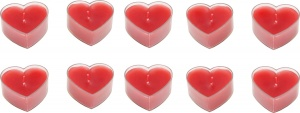 Small Foot candles in heart shape 10 pcs