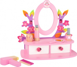 Small Foot colorful wooden makeup table pink