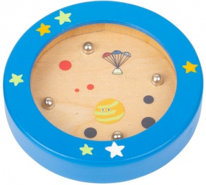 Small Foot mini-labyrinth Space hout junior 7,5 cm blauw